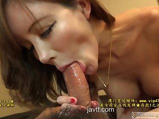 Petite brunette babe pleases her boyfriend till he cums