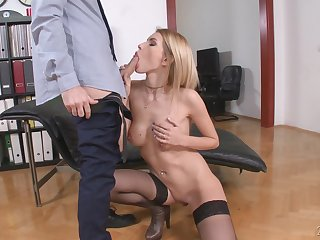 there is nothing better for Karina Grand than a blowing on the floor