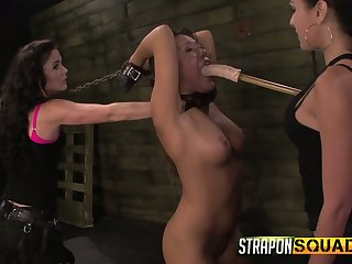 You'd better watch submissive Mena Li being masturbated hard by two bitches