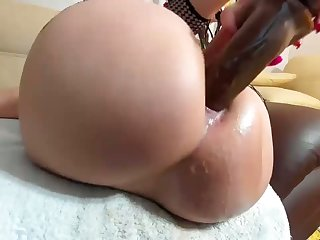 Wet Creamy Cum Pouring Out Her Big Ass