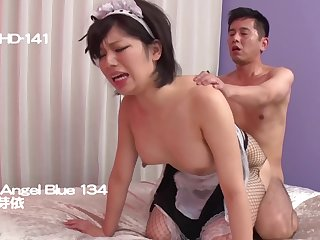 uncensored asian porn video with horny MILF