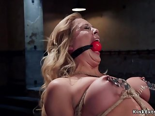 Tight tied porn star gets creampie