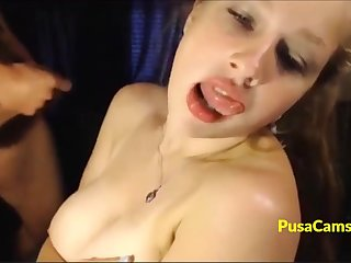 Webcam model with best dd big tits in the world is fucking and sucking