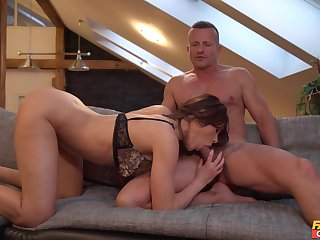 Intense hard sex and oral passion for the lovely babe