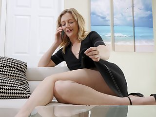 Sexy single teacher is masturbating pussy and dreaming of 18 yo student