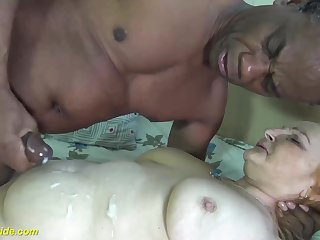 First time black cock for 78 years old mom