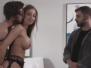 Fake tits wife Britney Amber enjoys riding a strangers cock