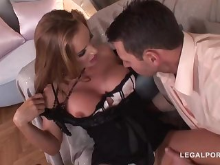 Trendy mature with a ultra-cute, chubby butt, Bonny Bon got bum-fucked until she commenced pumping out like naughty