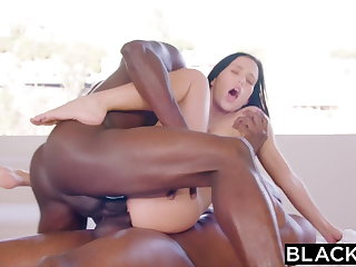 BLACKED Megan Rain Gets DPd By Sugar Daddy and His Friend
