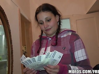 Pretty Czech student trades sex for cash